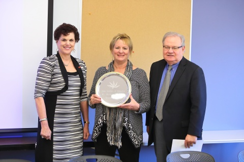 Linda Hagedorn, new IAE member Michele Devlin, and Christopher Edginton