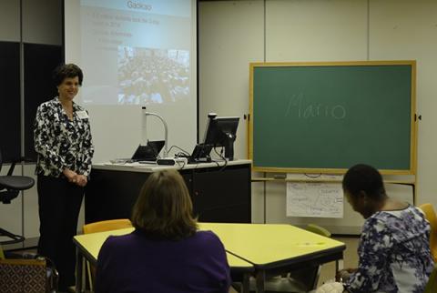 Dr. Hagedorn presenting