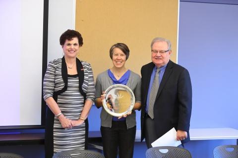 Linda Hagedorn, new IAE member Jennifer Waldron, and Christopher Edginton.